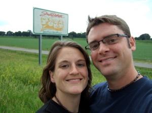 At the South Dakota sign